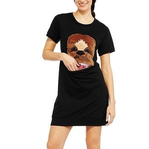 Star Wars Chewbacca Shirt with Zipper Mouth Pocket